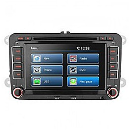 "7"" VW UNIVERSAL TOUCH SCREEN DVD NAVIGATION RECEIVER - BUILT IN GPS"