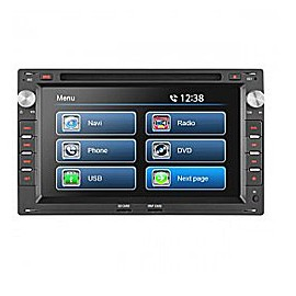 "7"" VW UNIVERSAL TOUCH SCREEN CD/DVD NAVIGATION RECEIVER - BUILT IN GPS"