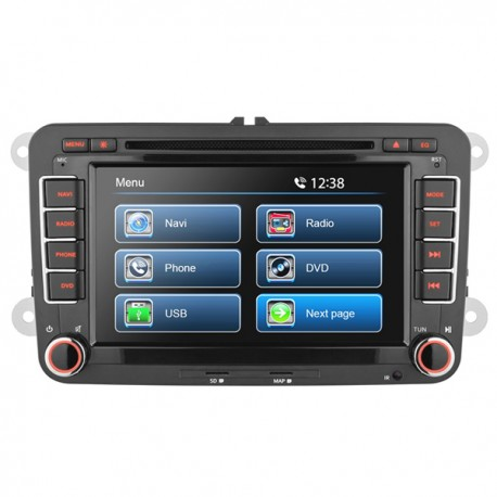 """7"""" VW UNIVERSAL TOUCH SCREEN DVD NAVIGATION RECEIVER - BUILT IN GPS **"""