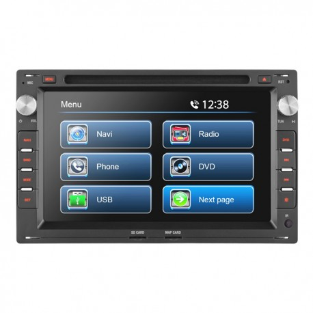 """7"""" VW UNIVERSAL TOUCH SCREEN CD/DVD NAVIGATION RECEIVER - BUILT IN GPS **"""