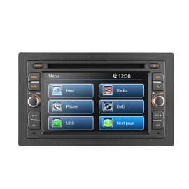 "6.2"" UNIVERSAL GLASS  TOUCH SCREEN CD/ DVD NAVIGATION RECEIVER - BUILT IN GPS"