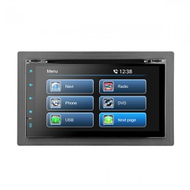 "6.2"" UNIVERSAL FULL GLASS TOUCH SCREEN CD/DVD NAVIGATION RECEIVER - BUILT IN GPS"