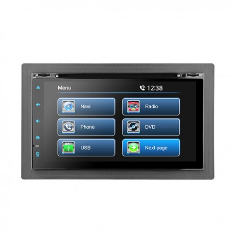"7"" UNIVERSAL FULL GLASS TOUCH SCREEN CD/DVD NAVIGATION RECEIVER - BUILT IN GPS **"